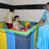 Asha Bhosle plays with the kids at the Inauguration