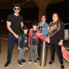 Hrithik Roshan poses with Family at the Airport while leaving for a family trip at Maldives