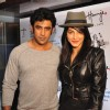 Amit Sadh and Shruti Hassan pose for the media at the Launch of Harry's Bar & Cafe