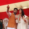 Abhishek Bachchan and Aishwarya Rai Bachchan at Gudi Padwa Celebrations