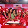 Lara Dutta was snapped cutting cake at Fair & Lovely Foundation Event