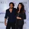 Homi Adajania and Deepika Padukone pose for the media at the Launch of Vogue Empower Film My Choice