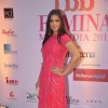 Sonali Bedre poses for the media at Femina Miss India Finals Red Carpet