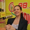 Kalki Koechlin interacts with the media at the Promotions of Margarita, with a Straw on Radio Mirchi