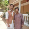 Sushant Singh Rajput and Anand Tiwari pose for the media at the Promotions