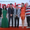 Celebs pose for the media at the Poster Launch of Udanchhoo