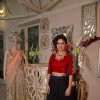 Sunidhi Chauhan poses for the media at Shane & Falguni Peacock Preview for Bridal Asia Show