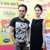 Emraan Hashmi and Amyra Dastur pose for the media at the Promotions of Mr. X in Delhi