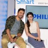 Soha Ali Khan and Rannvijay poases at the Launch of the Latest 4K Ultra HD TV