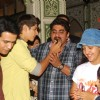 Rohan Mehra feeds a piece of Cake to Rajan Shashi at the Birthday Bash
