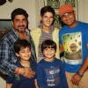 Rajan Shashi and Rohan Mehra pose with the child actors at the Birthday Bash