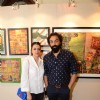 Bobby Deol poses with wife at The Gateway Schools Annual Art Show