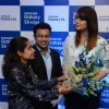 Huma Qureshi interacts with people at Samsung Mobile Launch