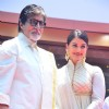 Amitabh Bachchan and Aishwarya Rai Bachchan pose at the Launch of Kalyan Jewellers Showroom