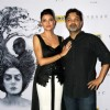 Sushmita Sen with Director Snapped at the Premiere of her Film Nirbaak in Kolkatta