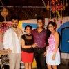 Sudhir and Seema Sharma with actors at Launch of New Tv Show 'Gulmohar Grand' by Star Plus