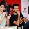 Anushka Sharma interacts with the audience at the Promotions of Bombay Velvet in Delhi