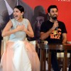 Anushka Sharma was snapped laughing out loud at the Promotions of Bombay Velvet in Delhi