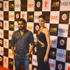 Shoojit Sircar and Deepika Padukone pose for the media at the Success Bash of Piku
