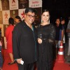 Simone Singh poses with Farhad Samar at Star Parivaar Awards 2015