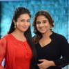 Divyanka Tripathi and Vidya Balan poses for the media on the sets of Ye Hai Mohabbatein