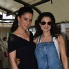 Ameesha Patel poses with Rouble Nagi at the Birthday Bash