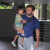 Sohail Khan was snapped with younger Son at International Airport while returning from a holiday
