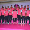 Jr. Bachchan at Press Conference of Jaipur Pink Panthers