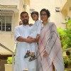 Aamir Khan poses with Kiran Rao and Azad Rao Khan on the occasion of Eid