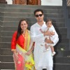 Imran Khan poses with wife Avantika and daughter Imara Khan