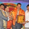 Mukesh Rushi and Chiranjeevi at TSR Tv9 National Awards