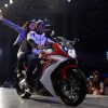 Taapsee and Akshay Rides Honda CBR 650F at the Launch