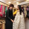 Rohit Showcases the Collection to Bhagyashree