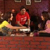 Radhika and Ali talking to Juhi Chawla