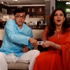 Radhika and Rajdeep fighting for T.V  remote