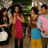 All are looking shocked to see Radhika