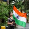 Urvashi Rautela blows a kiss to the flag on Independence Day
