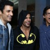 Karanvir Bohra poses with Shaan and Ganesh Hegde at his Birthday Bash