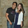 Vindoo Dara Singh With His Wife at Special Screening of Hollywood Movie 'Transporter Refueled'