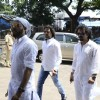 Toshi and Sharib Hashmi and Raja Hasan at Aadesh Shrivastava's Funeral