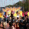 Sanjay, Ajay, Fardeen, Bipasha and Mugdha doing stage perfomance