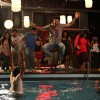 Ranbir Kapoor jumping in swimming pool