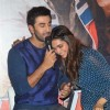 Deepika shares a laugh with Ranbir at the Trailer Launch of Tamasha