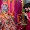 Neil Nitin Mukesh offering his prayers to Lord Ganesh