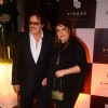 Sanjay Khan poses with Wife at Simone Khan's Store Anniversary