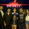 Ehsaan Noorani, Monica Dogra, Vishal and Shibani Dandekar at Launch of Colors Infinity's 'The Stage'