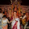 Sushmita Sen Poses for Media at Durga Pooja