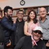 Madhuri, Anil, Subhash, Satish, Anupam, Jackie and Guslshan at Celebration of 37 Years of Mukta Arts