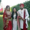 Geeta Basra and Harbhajan Singh Poses with Archana Kocchar