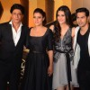 Shah Rukh Khan, Kajol, Kriti Sanon and Varun Dhawan at Trailer Launch of 'Dilwale'